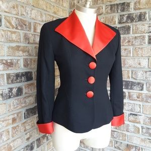 Christian Dior Structured 2-Tone Button-Up Blazer